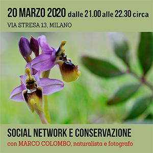 Locandina Incontro Social Network e Conservazione 300x300 pixel