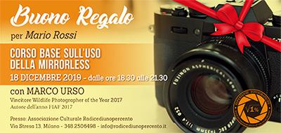 Buono Regalo Corso Mirrorless 400x190 pixel