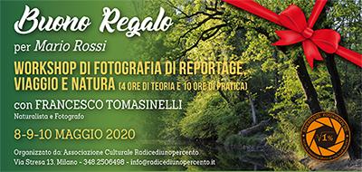 Buono Regalo Corso Reportage Tomasinelli Maggio 400x190 pixel