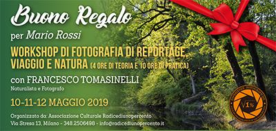 Buono regalo Reportage Tomasinelli per Web 400x190 pixel