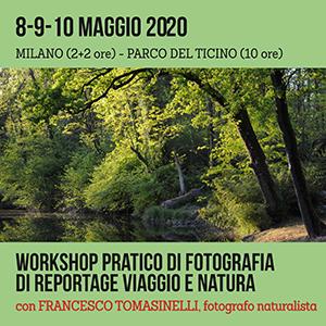 Locandina Workshop Tomasinelli Reportage-Naturalistica 300x300 pixel