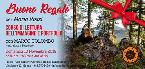 Buono Regalo Corso Lettura del portfolio 500x238 pixel