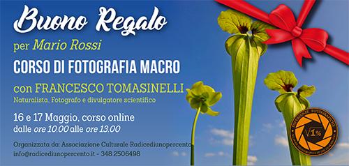 Buono Regalo Corso Macro Tomasinelli 500x238 pixel