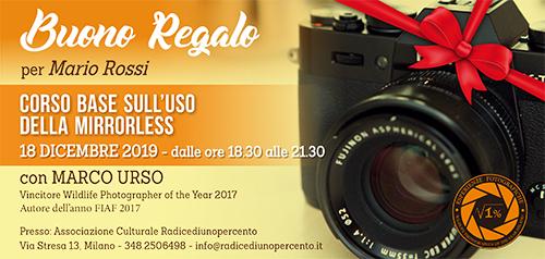 Buono Regalo Corso Mirrorless 500x238 pixel
