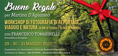 Buono Regalo Corso Reportage Tomasinelli Fine Maggio 500x238 pixel