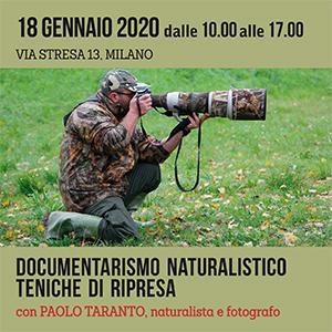 Locandina Documentarismo naturalistico - teniche di ripresa Paolo Taranto