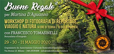 Buono Regalo Corso Reportage Tomasinelli Fine Maggio 400x190 pixel