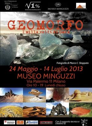 Locandina mostra Geomorfo - Marco Stoppato