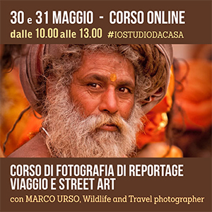 Locandina Corso Fotografia di Reportage Online 300x300 pixel